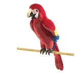 Scarlet Macaw Full Body Puppet by Folkmanis Puppets