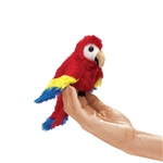 Scarlet Macaw Finger Puppet by Folkmanis Puppets