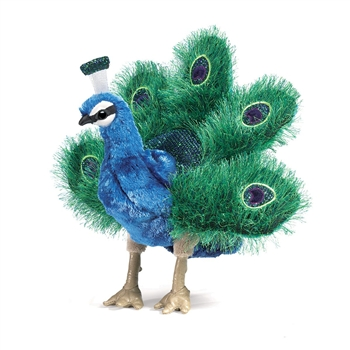Mini Peacock Full Body Puppet by Folkmanis Puppets