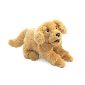 Full Body Golden Retriever Puppy Puppet by Folkmanis Puppets