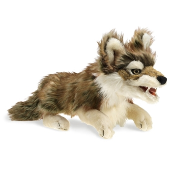 Gray Wolf Full Body Puppet by Folkmanis Puppets