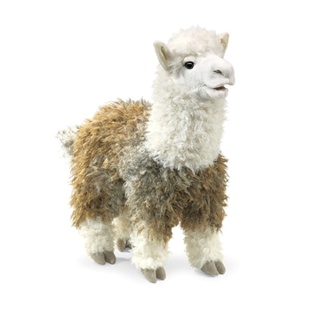 Alpaca Full Body Puppet by Folkmanis Puppets