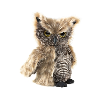 Screech Owl Full Body Puppet by Folkmanis Puppets