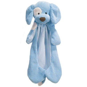 Spunky the Plush Blue Dog Huggybuddy Baby Blanket by Gund