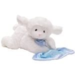 Lena the Plush Prayer Lamb with Blue Blanket by Gund