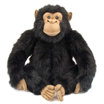 Handcrafted 18 Inch Lifelike Adult Chimpanzee Stuffed Animal by Hansa