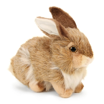 Handcrafted 12 Inch Lifelike Brown Rabbit Stuffed Animal by Hansa