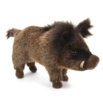 Handcrafted 12 Inch Lifelike Baby Wild Boar Stuffed Animal by Hansa