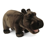 Handcrafted 18 Inch Lifelike Hippopotamus Stuffed Animal by Hansa