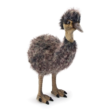 Handcrafted 15 Inch Lifelike Baby Emu Stuffed Animal by Hansa