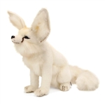 Lifelike Sitting Arctic Fox Stuffed Animal by Hansa