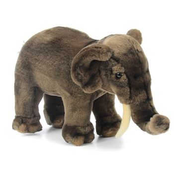 Handcrafted 12 Inch Lifelike Asian Elephant Stuffed Animal by Hansa
