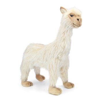 Handcrafted 17 Inch Lifelike Female Llama Stuffed Animal by Hansa