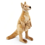 Lifelike Kangaroo Stuffed Animal by Hansa