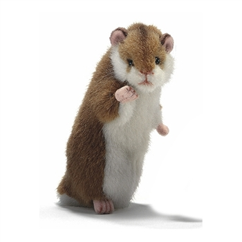 Handcrafted 6 Inch Standing Lifelike Hamster Stuffed Animal by Hansa