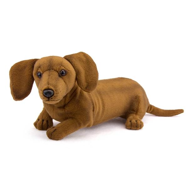Stuffed Toy Dog Long Haired Dachshund