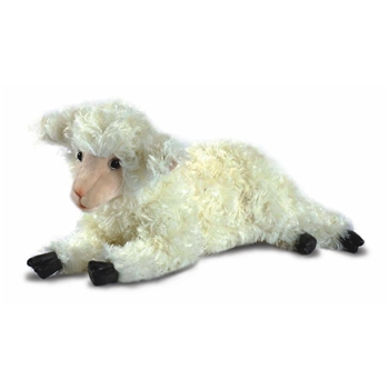Handcrafted 18 Inch Lifelike White Lamb Stuffed Animal by Hansa