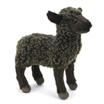 Handcrafted 7 Inch Lifelike Little Black Lamb Stuffed Animal by Hansa