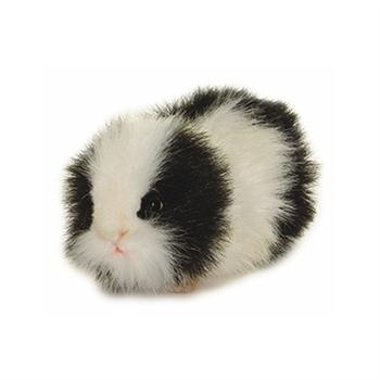 Handcrafted 8 Inch Lifelike Black Guinea Pig Stuffed Animal by Hansa