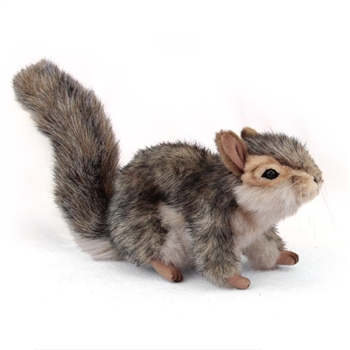 Handcrafted 9 Inch Sitting Lifelike Stuffed Gray Squirrel by Hansa