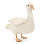 Handcrafted 9 Inch Lifelike Goose Stuffed Animal by Hansa