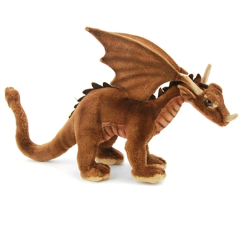 Handcrafted 12 Inch Lifelike Dragon Stuffed Animal by Hansa