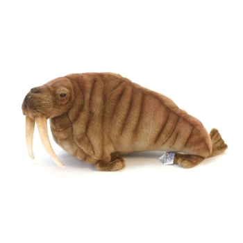 Handcrafted 15 Inch Lifelike Walrus Stuffed Animal by Hansa