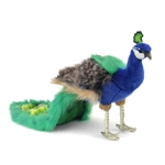 Handcrafted 10 Inch Lifelike Peacock Stuffed Animal by Hansa