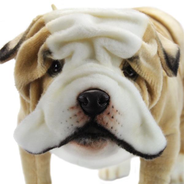 handcrafted 30 inch life size english bulldog stuffed animal by hansa at stuffed safari. Black Bedroom Furniture Sets. Home Design Ideas