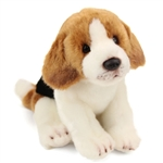 Lifelike Stuffed Beagle Puppy by Nat and Jules