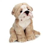 Small Sitting Stuffed Bulldog by Nat and Jules