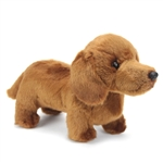 Lifelike Stuffed Dachshund Puppy by Nat and Jules