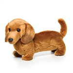 Lifelike Dachshund Stuffed Animal by Nat and Jules