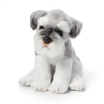 Small Sitting Stuffed Schnauzer by Nat and Jules