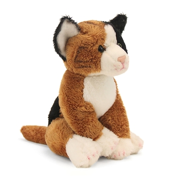Small Sitting Stuffed Calico Cat by Nat and Jules