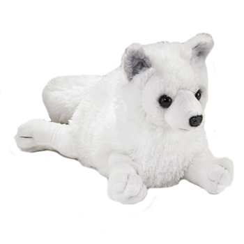 Plush Arctic Fox Stuffed 17 Inch Conservation Critter by Wildlife Artists