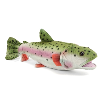 Plush Rainbow Trout 16 Inch Conservation Critter by Wildlife Artists