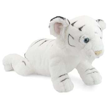 Large Stuffed White Tiger Cub Conservation Critter by Wildlife Artists