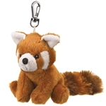 Small of the Wild Clip On Stuffed Red Panda by Wildlife Artists