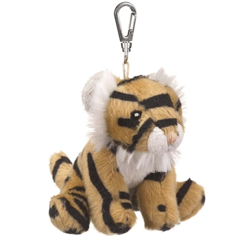 Small of the Wild Clip On Stuffed Tiger by Wildlife Artists