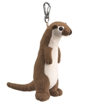 Small of the Wild Clip On Stuffed River Otter by Wildlife Artists