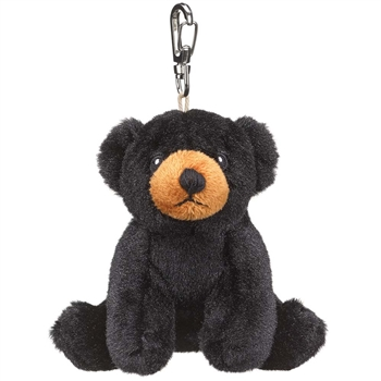 Small of the Wild Clip On Stuffed Black Bear by Wildlife Artists