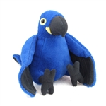 Stuffed Hyacinth Macaw Mini Cuddlekin by Wild Republic
