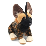 Plush African Wild Dog 12 Inch Stuffed Animal Cuddlekin By Wild Republic