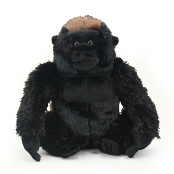 Plush Silverback Gorilla 12 Inch Stuffed Primate Cuddlekin By Wild Republic