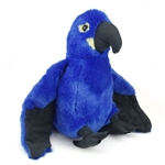 Plush Hyacinth Macaw 12 Inch Stuffed Bird Cuddlekin By Wild Republic