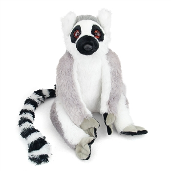 Plush Ring-Tailed Lemur 12 Inch Stuffed Primate Cuddlekin By Wild Republic