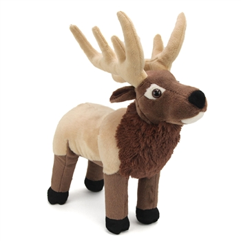 Plush Elk 12 Inch Stuffed Animal Cuddlekin By Wild Republic
