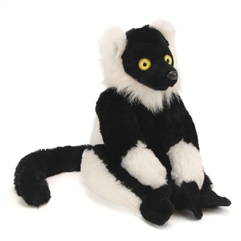 Cuddlekins Black and White Ruffed Lemur Plush Animal by Wild Republic