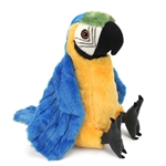Stuffed Blue and Yellow Macaw 12 Inch Cuddlekin by Wild Republic